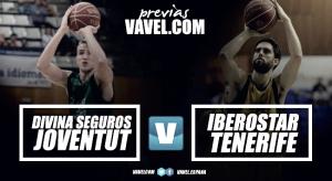 Previa Divina Seguros Joventut - Iberostar Tenerife: prueba de fuego en el Olímpic