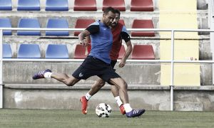 Juanfran protagoniza el segundo entrenamiento de la semana