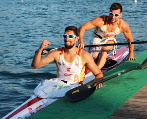 Rubén Millán y Gabriel Campo acaban novenos en la final del K-2 1.000 metros