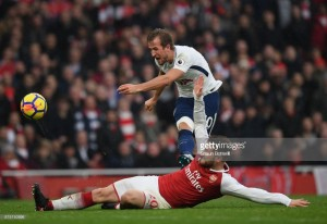 Harry Kane heads seventh in seven against Arsenal to clinch Derby Day victory at Wembley