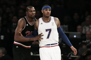 Carmelo Anthony starts early recruitment of Kevin Durant