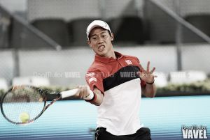 Nishikori suda para vencer a Vesely