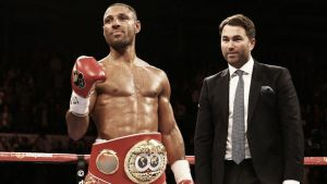Kell Brook calls out Amir Khan after successfully defending welterweight title
