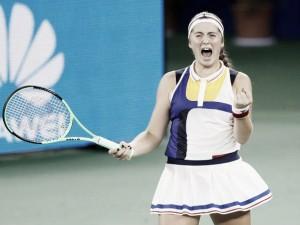 WTA Wuhan: Jelena Ostapenko battles back to beat Garbine Muguruza
