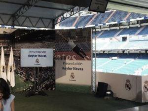 Presentación de Keylor Navas por el Real Madrid en vivo y en directo online