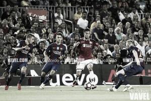 Messi, solo ante el peligro