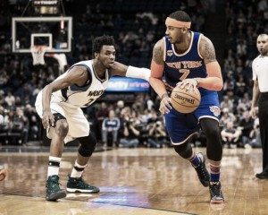 New York Knicks hang on to earn road victory against Minnesota Timberwolves, 106-104