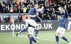 Leicester City 1-0 Aston Villa: Konchesky strike enough to edge Midlands derby in surge for survival