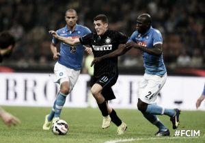 Callejon fa sognare il Napoli, l'Inter reagisce e impatta. Finisce 2-2 a San Siro