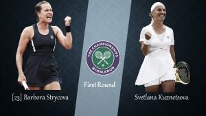 Wimbledon First Round Preview: Svetlana Kuznetsova vs Barbora Strycova