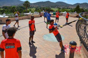 Sesión dura con trabajo físico en la segunda jornada del Granada en La Manga
