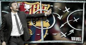 La pizarra de Luis Enrique: romper el muro