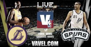 San Antonio Spurs vs Los Angeles Lakers en vivo y en directo online