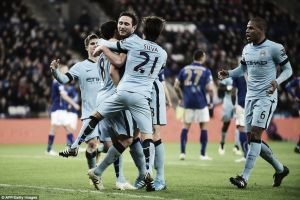 Leicester City 0-1 Manchester City: Lampard strike saves lacklustre Manchester City
