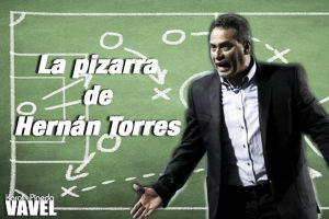 La pizarra de Hernán Torres: un partido para evaluar un proceso