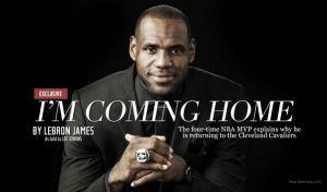 El Rey LeBron vuelve a casa