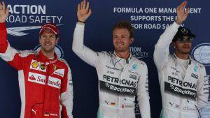Nico Rosberg regressou às pole position