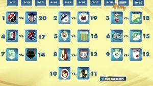Listo el sorteo de la Liga Águila 2015-I