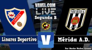Resultado Linares - Mérida en Segunda División B 2015 (1-1)