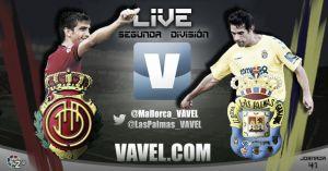 Resultado Mallorca - Las Palmas en la jornada 41 de la Liga Adelante 2014 (2-0)