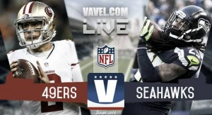 Score Seattle Seahawks vs San Francisco 49ers in the NFL (37-18)