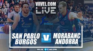 Resumen San Pablo Burgos vs MoraBanc Andorra en ACB 2018 (90-86)