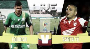 Equidad vs Santa Fe, Liga Águila 2015 en vivo y en directo
