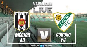 Resumen Mérida 2-2 Coruxo en playout de permanencia en Segunda B 2018