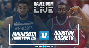 Resumen Minnesota Timberwolves vs Houston Rockets en vivo y en directo online en NBA 2018 (120-129)