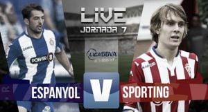 Resultado RCD Espanyol vs Sporting de Gijón (1-2)