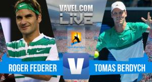 Roger Federer vence Tomas Berdych pelo Australian Open 2018 (3-0)