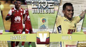Resultado Santa Fe vs Huila en Liga Águila 2015-II (2-1)
