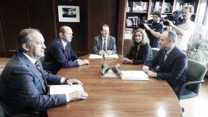 Caballero y Louzán llegan a un acuerdo para la reforma de Balaídos