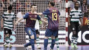 Resultado FC Barcelona - Sporting Clube de Portugal en la UEFA Futsal Cup 2015 (5-3)