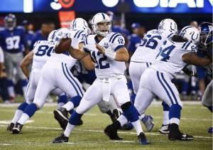 Andrew Luck y los Colts consiguen su primera victoria a costa de los Giants.