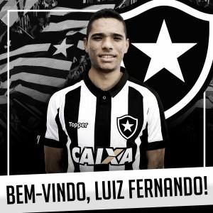 Botafogo anuncia atacante Luiz Fernando, revelação do Atlético-GO