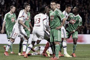 Lyon e Saint-Étienne empatam no Derby du Rhône em partida polêmica