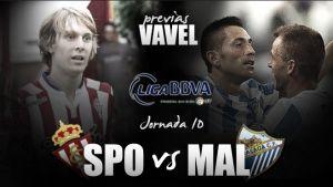 Sporting de Gijón - Málaga CF: duelo de asignaturas pendientes