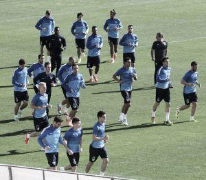 Contra la selección de Qatar en Suiza