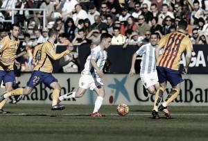 Amonestados del Málaga CF-FC Barcelona
