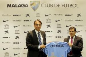 CaixaBank continuará siendo patrocinador del Málaga
