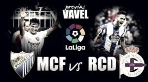 Previa Málaga CF- RC Deportivo de La Coruña: a reengarcharse a la zona de salvación