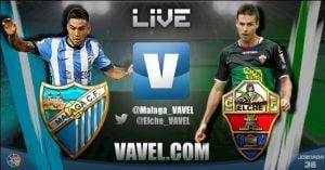 Málaga vs Elche en vivo y en directo