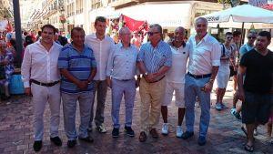 Tradicional visita de los dirigentes en la Feria de Málaga
