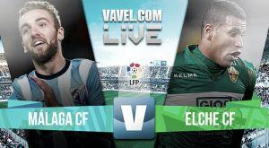 Resultado Málaga vs Elche en la Liga BBVA 2015 (1-2)