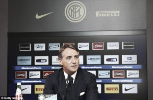 "Roberto Mancini,""I never said there was tension"" with Inter heirachy"
