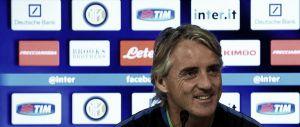 """Inter - Atalanta, Mancini: """"Siamo l'Inter, puntiamo allo scudetto ma dovremo essere bravi"""""""
