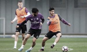 Última sesión blanca previa al partido con el Athletic Club de Bilbao
