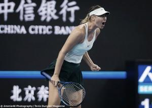 WTA Beijing: Sharapova exacts her revenge on Sevastova in three-hour, late-night thriller