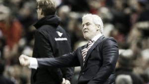 "Mark Hughes says Stoke were the ""better team"" following Capital One Cup exit"